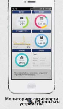 SYSTEM UTIL Dashboard : Аккумуляторная батарея, Память, ЦП, Диск, Сеть, Общие