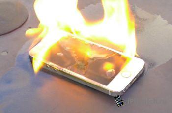 Как горит iPhone 5s (видео)