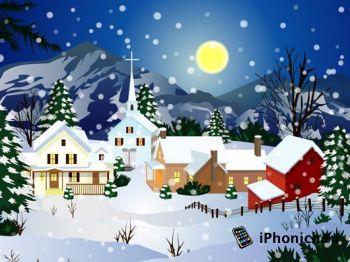 Новогодние обои для iPhone 4(S)