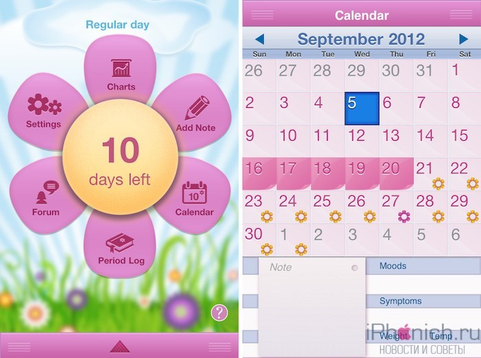 period-diary-for-iphone-ui