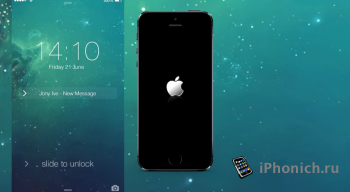 Концепция iOS 7.4 для iPhone