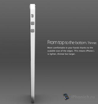 Концепт iPhone 6L  с iOS 8