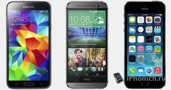 HTC One (M8) vs Galaxy S5 vs iPhone 5S: краш-тест
