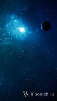 Retina обои для iPhone 5 / 5S / 5С на тему Космос