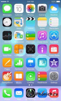 iPhone 6: скриншот iOS 8