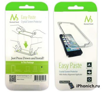 Mustard Seed Easy Paste – защитная пленка для iPhone 5(s)