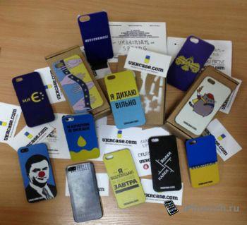 """""""правый сектор""""  продает чехлы для iPhone с «визиткой Яроша»"""