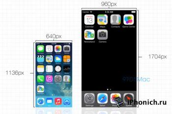 У iPhone 6 будет экра 1704x960 точек