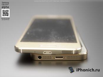 Galaxy Alpha vs iPhone 6 и iPhone 5S