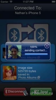Bluetooth Photo Share - передает фото и контакты