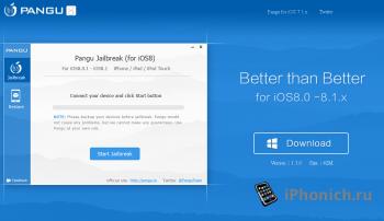 Скачать Pangu8 для джейлбрейка iOS 8 и iOS 8.1
