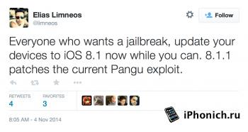 Apple закрыла уязвимость в  iOS 8.1.1 beta
