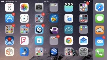 Твик betterFiveColumnHomescreen - пятая колонка иконок для iOS 8