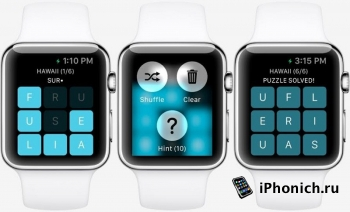 Скриншоты  игры на  Apple Watch