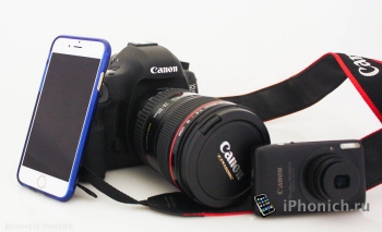 iPhone 6 vs Canon 5D Mark II и Canon PowerShot SD1400-IS