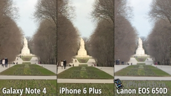 Битва камер iPhone 6 Plus vs Galaxy Note 4 vs Canon EOS 650D