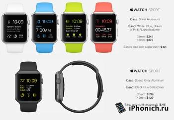 Стоимость часов Apple Watch, официальный прайс