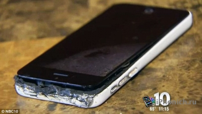 У девочки загорелся iPhone 5c оставил на ее теле ожоги