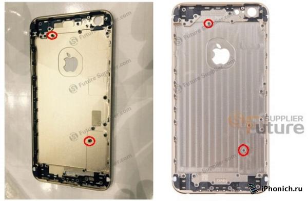 Фотография задней крышки iPhone 6s Plus