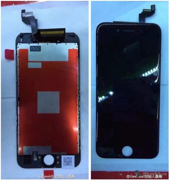Новые фото дисплея iPhone 6s с Force Touch