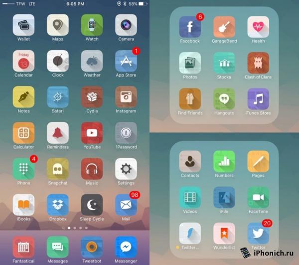7 лучших тем WinterBoard для iOS 9.0.2