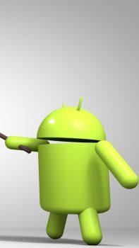 3D-Android-Logo-Green-Render-iPhone-6-plus-wallpaper-ilikewallpaper_com