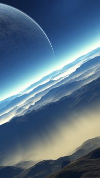 Blue-Space-Landscape-iPhone-6-plus-wallpaper-ilikewallpaper_com