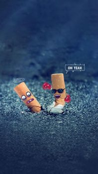 Creative-OH-Yeah-Cigarette-End-Design-Art-iPhone-6-plus-wallpaper-ilikewallpaper_com