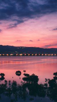 River-Bank-City-Sunset-Landscape-iPhone-6-plus-wallpaper-ilikewallpaper_com