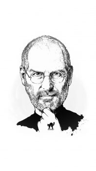 Steve-Jobs-Portraits-Illustration-iPhone-6-plus-wallpaper-ilikewallpaper_com