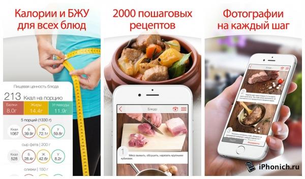 3 бесплатных кулинарных приложения для iPhone
