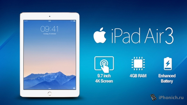 Стали известны размеры iPad Air 3