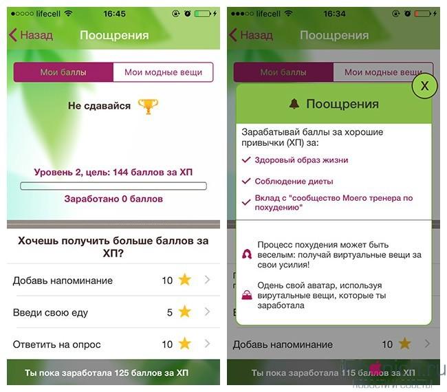 приложения для похудения на iphone