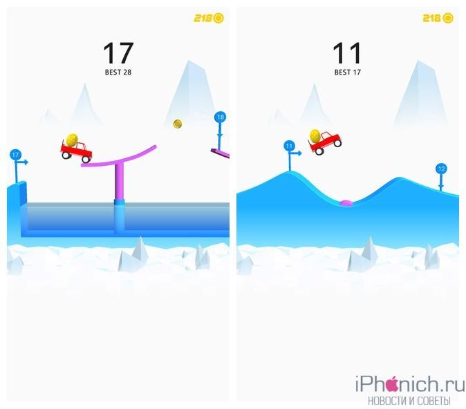 Risky Road - простая, но веселая игра для iPhone