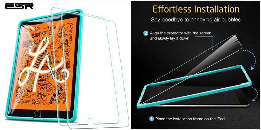 2 по цене 1: защитное стекло Tempered Glass ESR