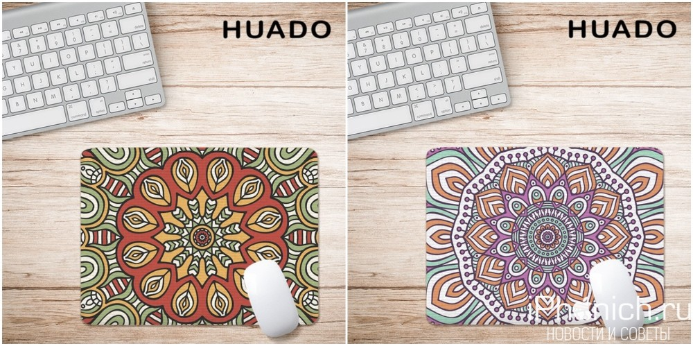 HUADO - нескользящий резиновый коврик для мыши