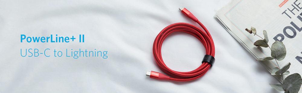 Anker PowerLine + II USB-C к Lightning
